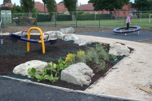 Plants and Eco-Surface/Mulch In Place