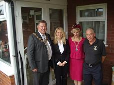 Mayor,Esther Mcvey,Mayoress and Robbie Ross