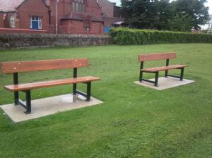 2 of the Restored Meols Park Benches
