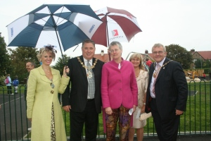 Mayors and Mayoress's of Wirral and Knowsley with Catherine Murphy from the Community Spaces Fund