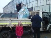 Ellen came along to make sure Go Green was happy