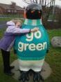 Ellen giving Go Green a Big Hug