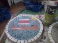 Viking longship mosaic