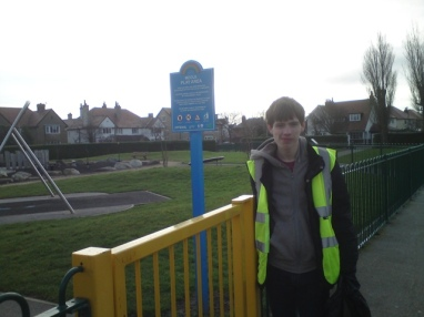Matthew is doing a litter pick in Meols Park for his Silver Duke of Edinburgh Award